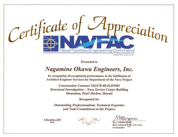 spot award certificate template - awards nagamine okawa engineers inc