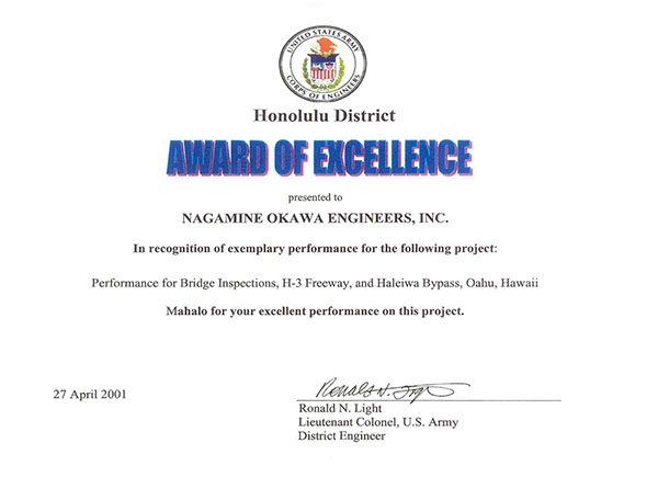 Award-H3 Inspections